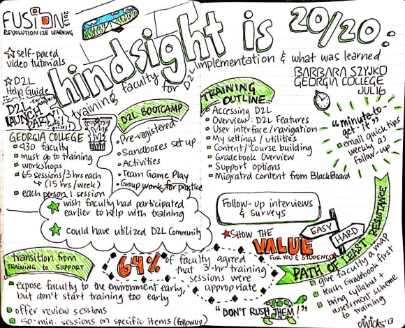 D2L Fusion 2013: Hindsight is 20/20...